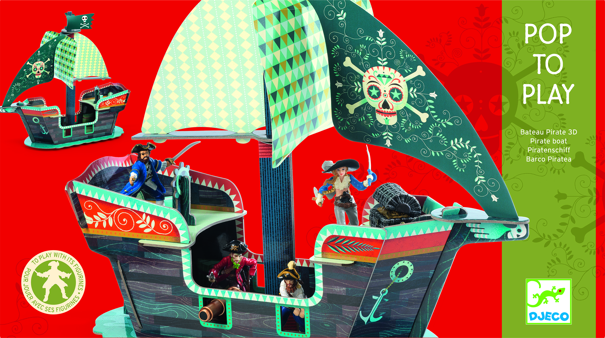 3D Pirate Boat from Djeco