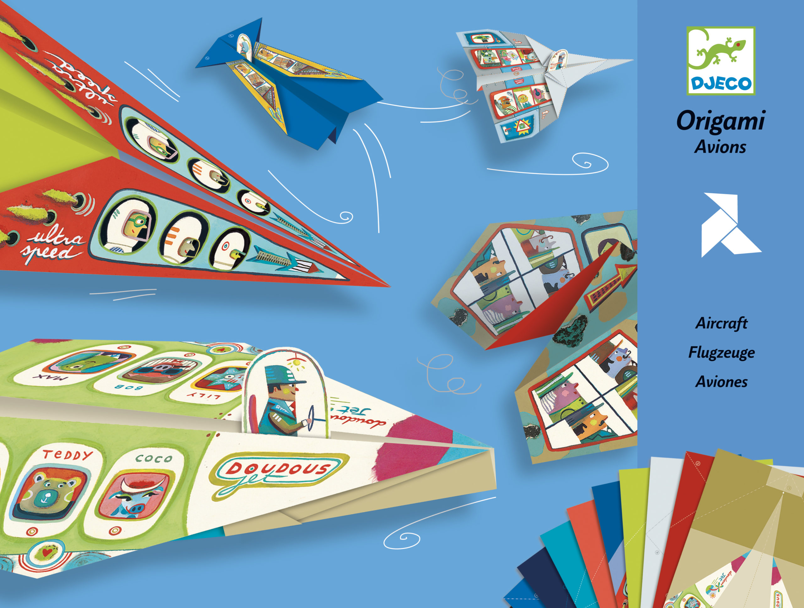 Origami Aircraft from Djeco