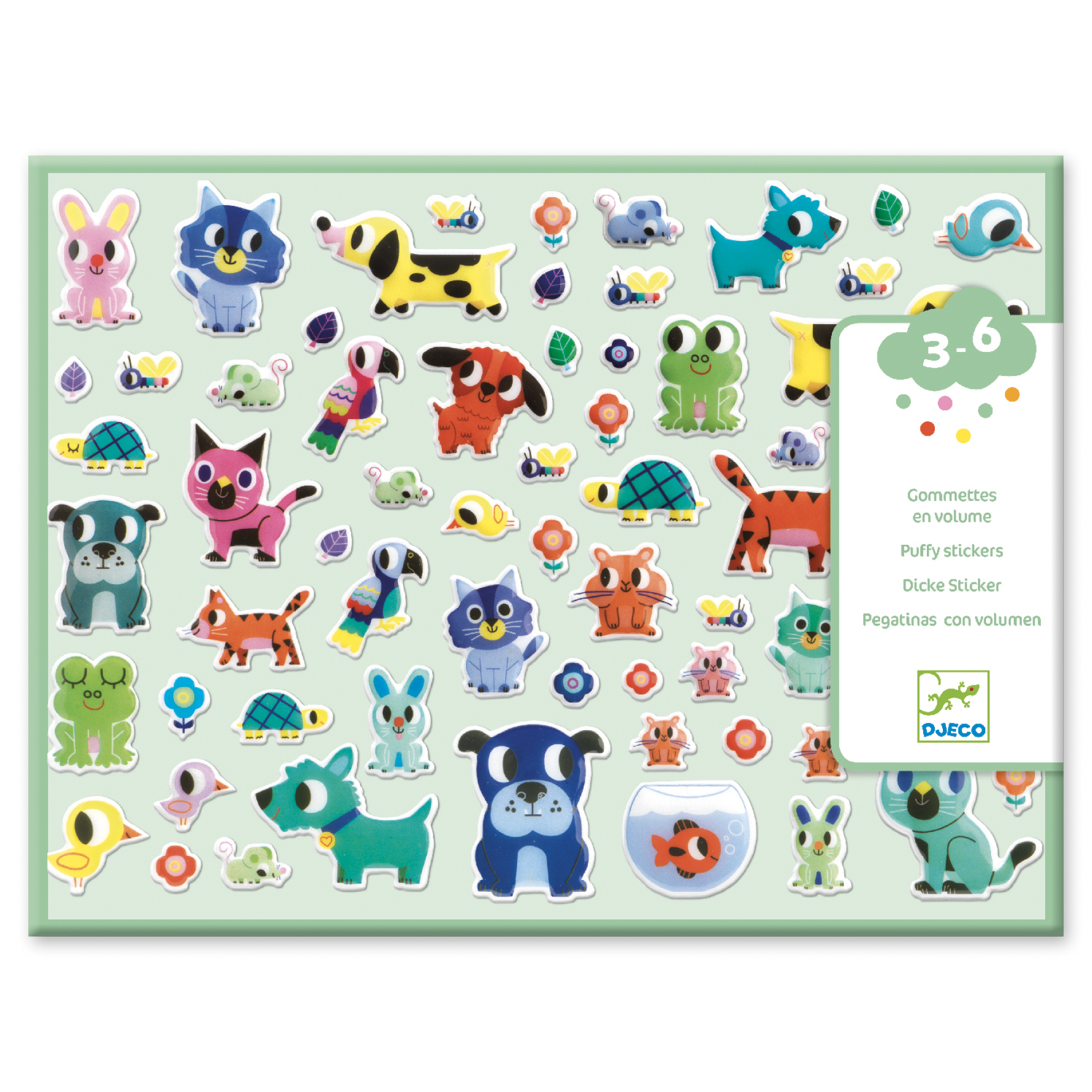 My Pet Puffy Stickers from Djeco