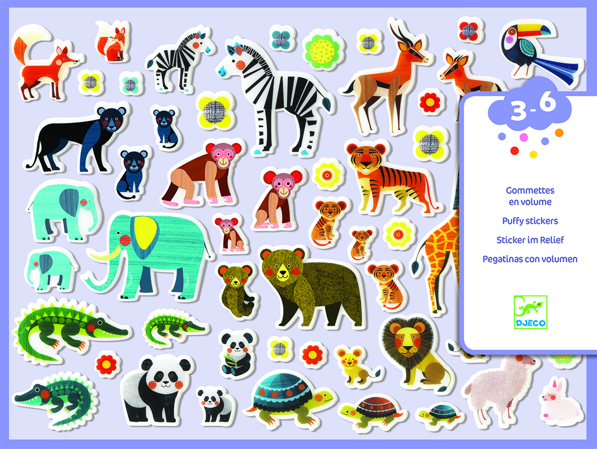 Mother & Baby Puffy Stickers from Djeco