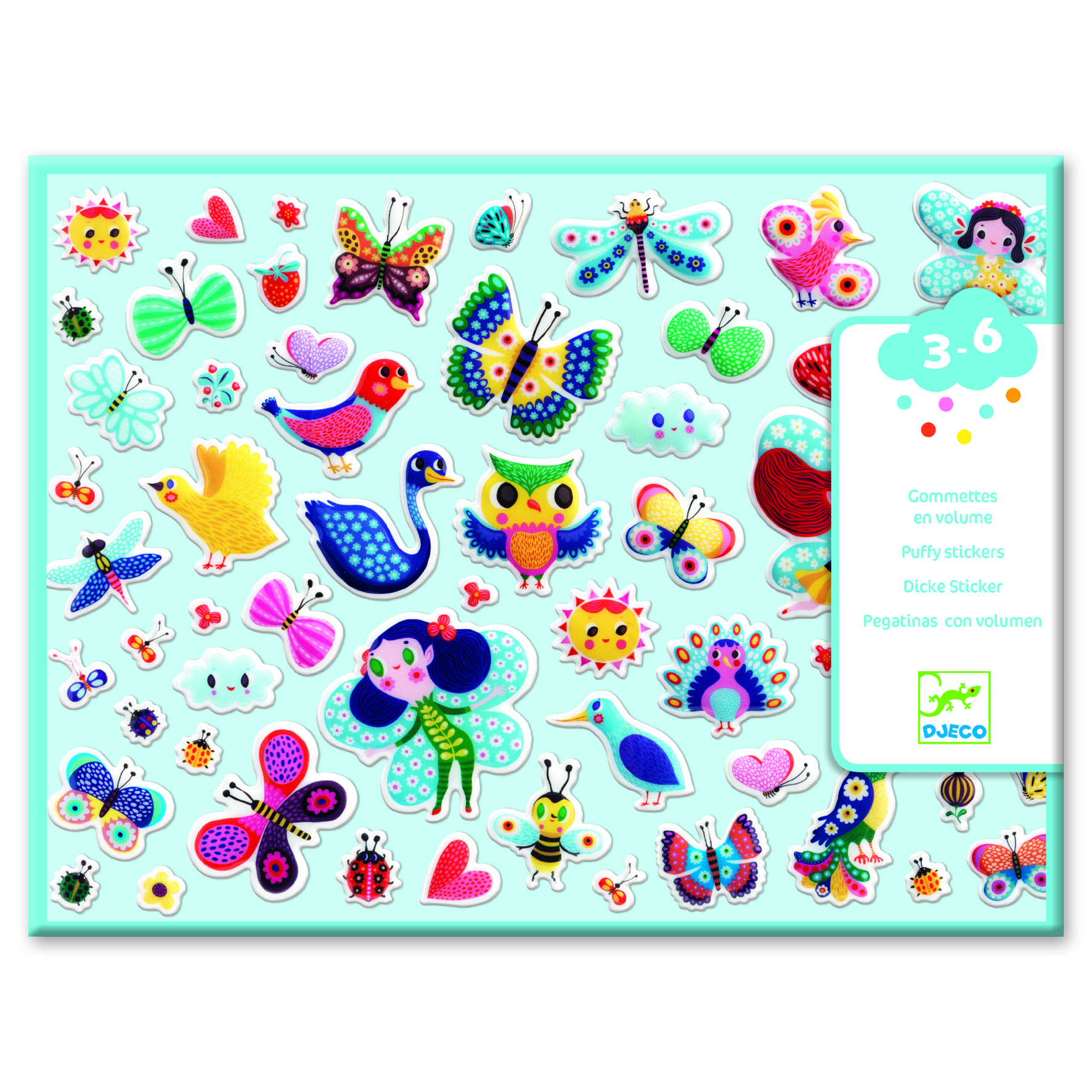 Little Wings Puffy Stickers from Djeco