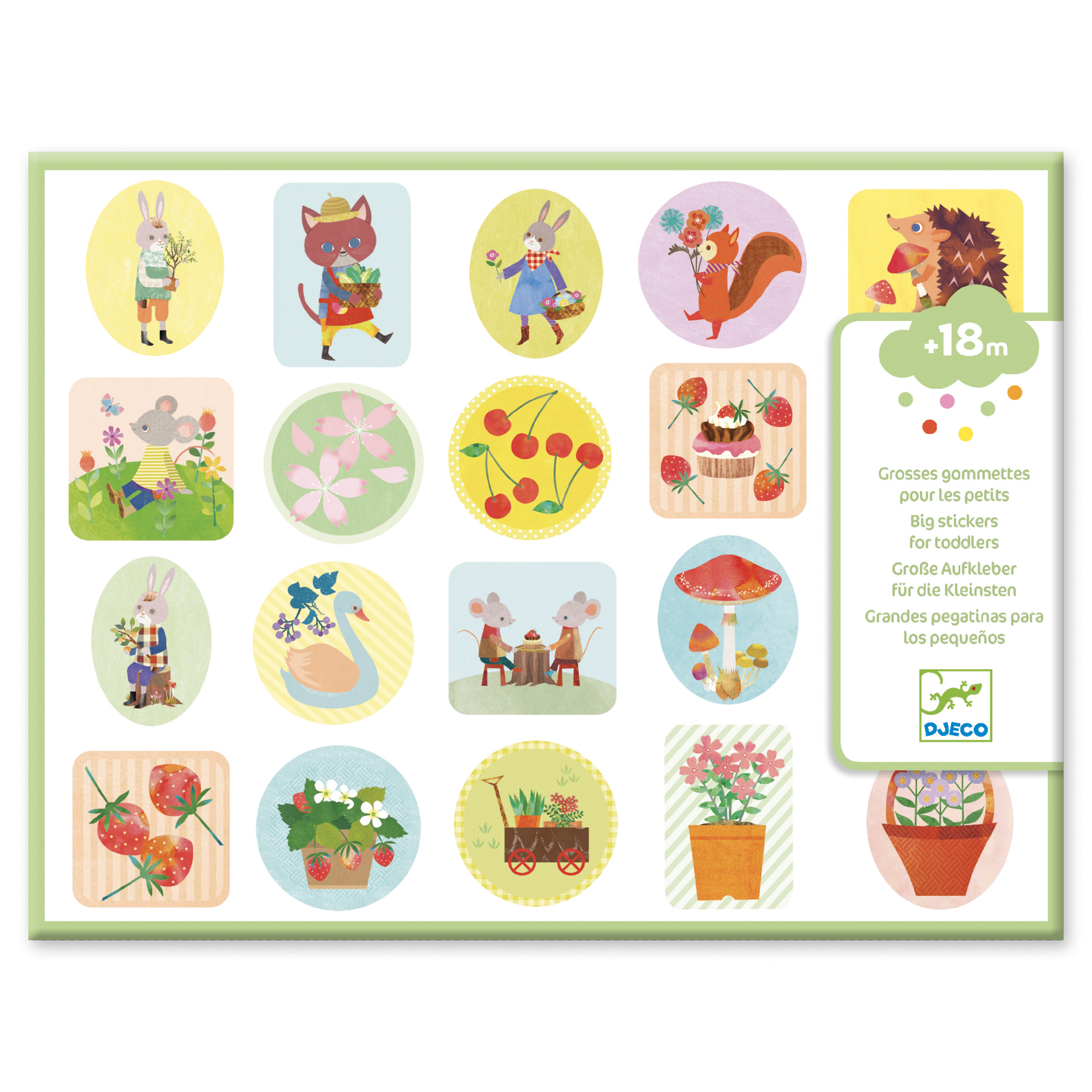 Big Garden Stickers for Toddlers from Djeco