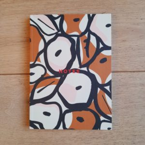 Inky Flowers A5 Flat Lay Notebook