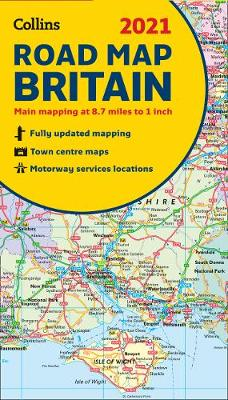 GB Map of Britain 2021: Folded Road Map
