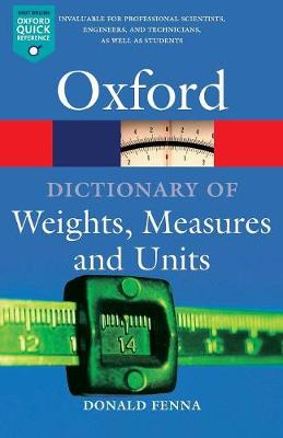 Dictionary of Weights, Measures, and Units, A