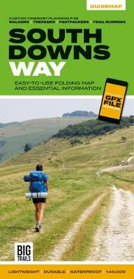 South Downs Way: Easy-to-use folding map and essential information, with custom itinerary planning for walkers, trekkers, fastpackers and trail runners