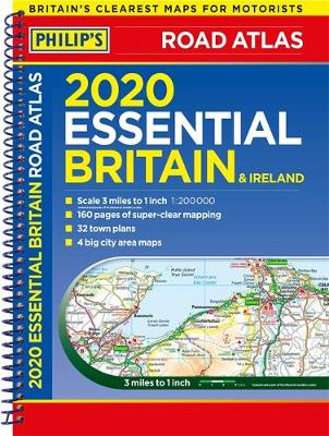 2020 Philip's Essential Road Atlas Britain and Ireland...