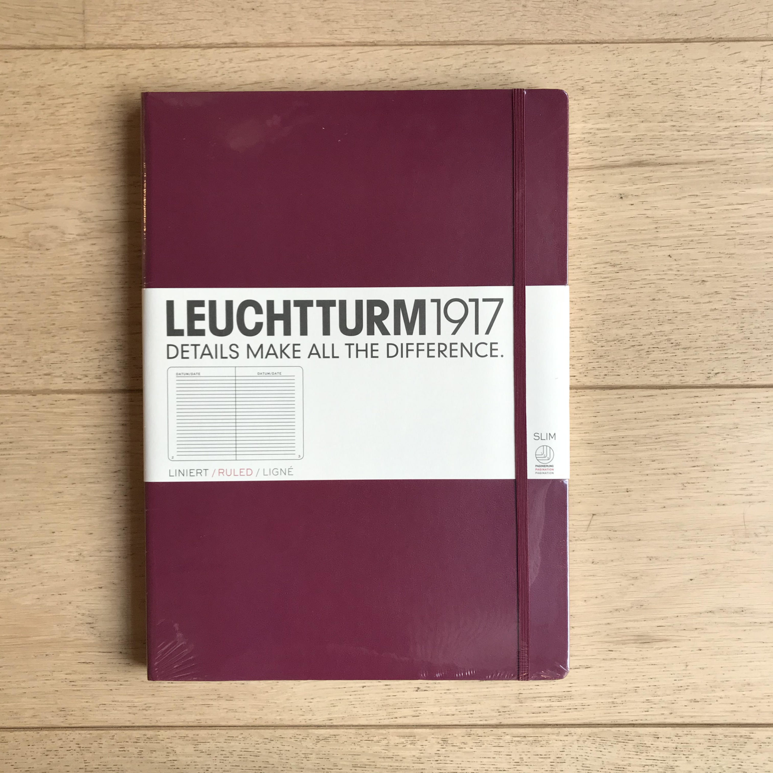 Leuchtturm A4+ Lined Notebook (Slim)