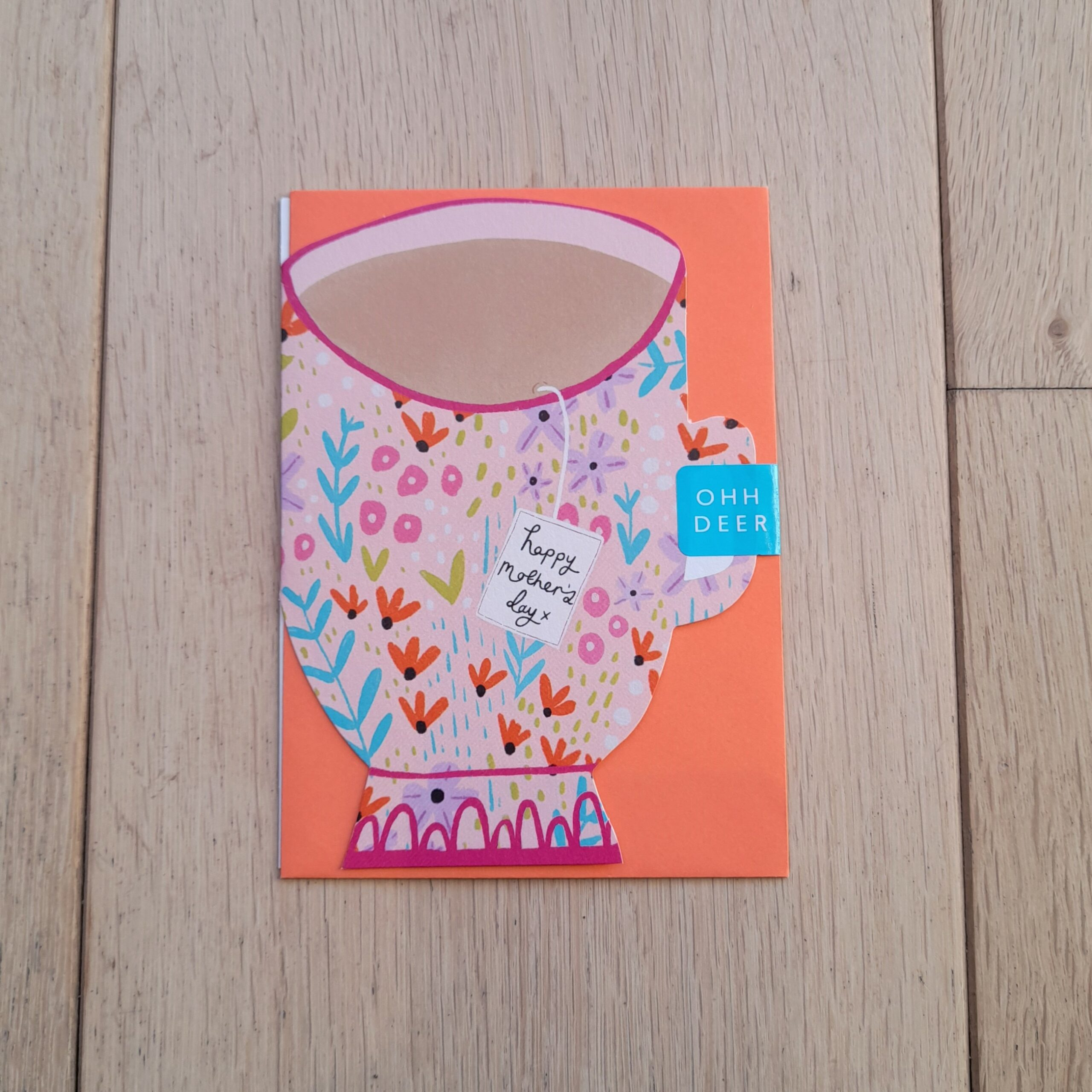 Ditsy Teacup Mother's Day Card