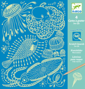 Glow-in-the-Dark Scratch Board Collections from Djeco